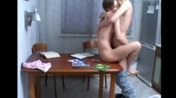 Amateur sex of shocking russian couple –