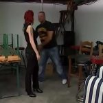 Angry German Redhead fucked by loudmouth