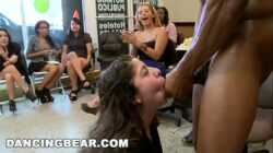 DANCING BEAR – Alaina's Fiesta Turns Into A CFNM Gangbang Party!