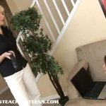 Hot teen Haley learning how to suck and fuck from milf
