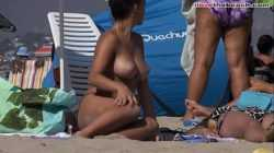Spying Busty teen at the beach