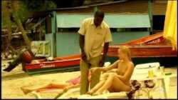 Young blonde white girl with black lover – Interracial Vacation
