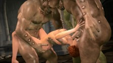 3D babe Trapped and fucked by monsters Hentai xxx hd