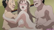 Hentai babe gets fucked by two guys