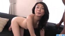 Rough interracial trio with sweet Kyoko Nakajima – More at javhd net
